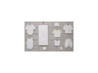 Set 10 piese cadou nou-nascut alb