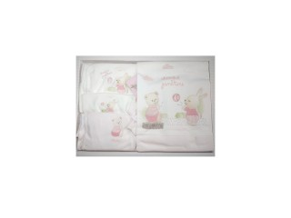 Set roz cadou nou-nascut 10 piese Cheerful Game Time